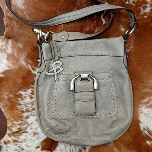 Vtg B. Makowsky Pebbled Leather Crossbody